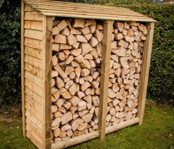 Slatted Log Store by Berkshire Log Stores