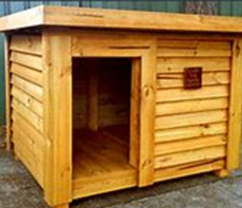 Large Dog Kennel by Berkshire Log Stores