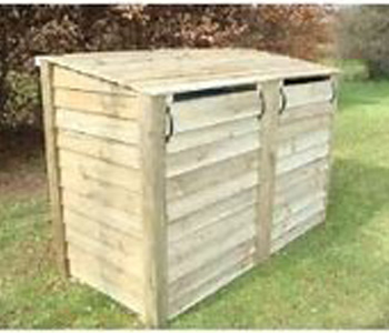 Wheelie bin storage with recycling storage
