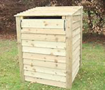 Wheelie bin storage with recycling storage. Buy outdoor wooden recycling storage online
