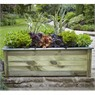 medium planter planed wood planter